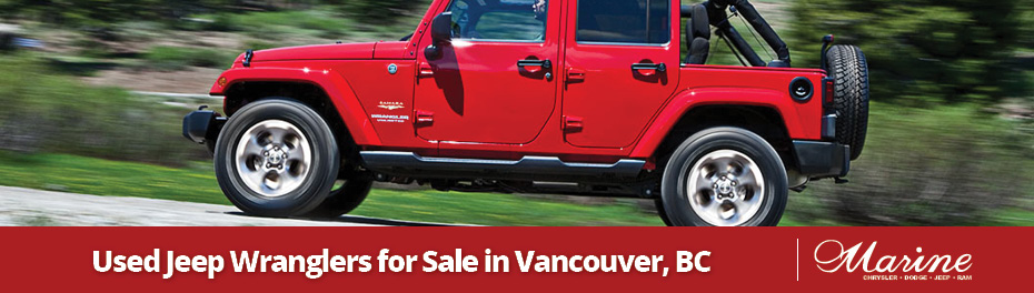 Used Jeep Wranglers for sale in Vancouver, BC