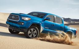 Blue Toyota Tacoma