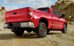 Toyota Tundra in red