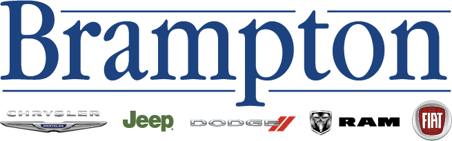 The Brampton Chrysler logo, with the Chrysler, Jeep, Dodge, Ram, and Fiat emblems underneath