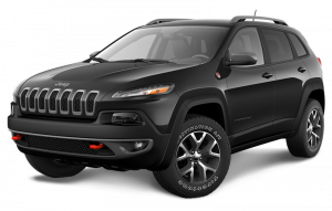 A black Jeep Cherokee