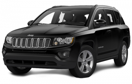 A black Jeep Compass
