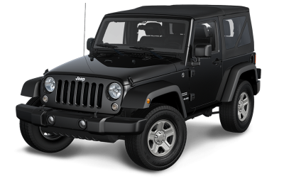 A black Jeep Wrangler
