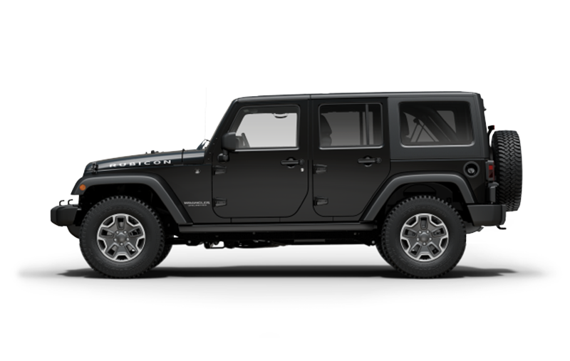 A black Jeep Wrangler Unlimited Rubicon