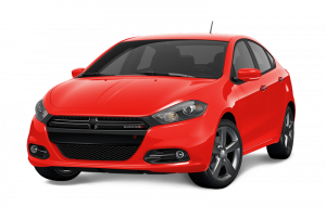 A red Dodge Dart