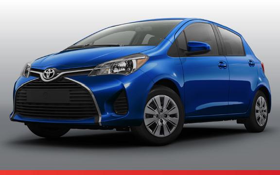 Blue Toyota Yaris
