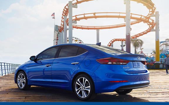 2017 Elantra Limited in Electric Blue