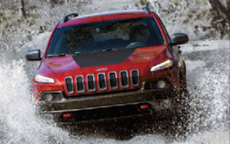 Off-road adventure in a Jeep Cherokee