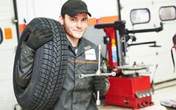 Happy service technician