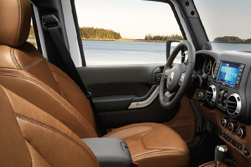 Jeep Wrangler leather interior