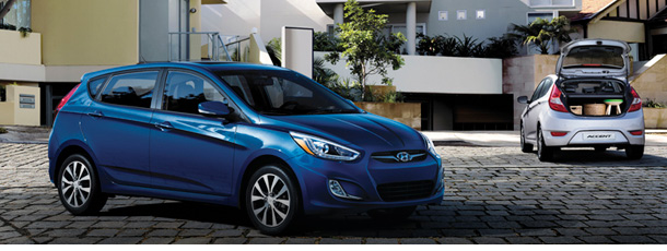 Exterior views of 2016 Hyundai Accent Hatchbacks